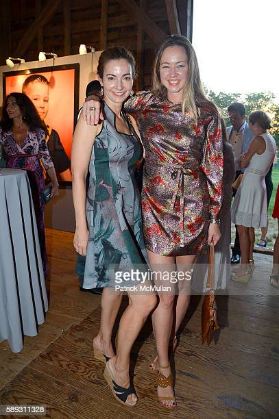 Ilana Weinstein and Anna Nikolayevsky attend the Guild Hall Summer Gala at Guild Hall on August 12 2016 in East Hampton New York