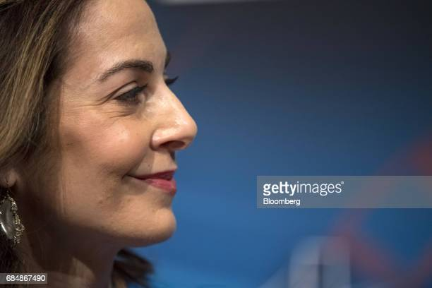 Ilana Weinstein president and chief executive officer of IDW Group LLC speaks at the Skybridge Alternatives conference in Las Vegas Nevada US on...