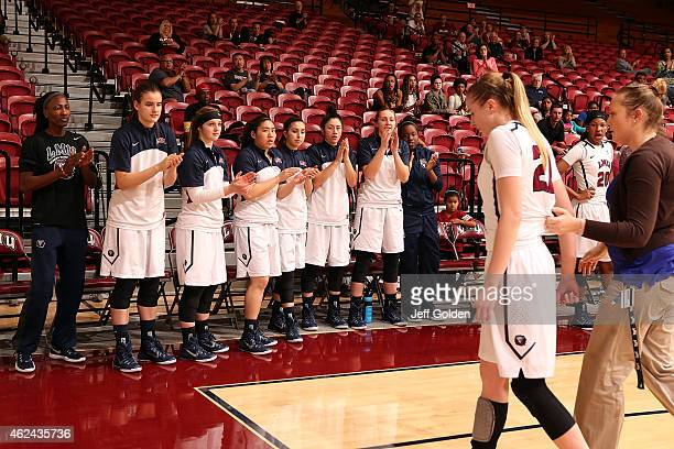 NK Ilang Tamara Jovanovic Deshka Olson Alyson Lock Shelbi Aimonetti Olivia Lucero Chloe Hall Deanna Johnson and Sophie Taylor of the Loyola Marymount...