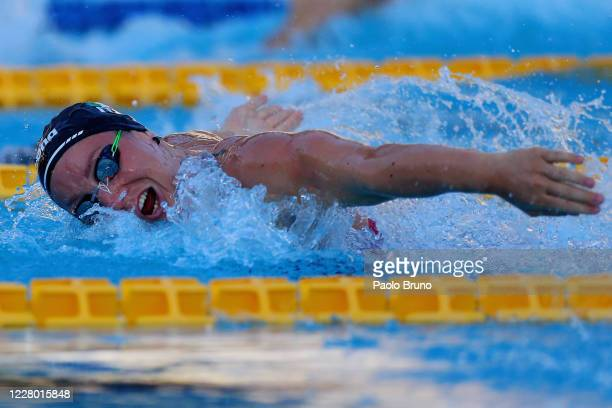 Ilaria Bianchi of Italy competes in the women's 100m butterfly during the 57th Settecolli 2020 international swimming trophy at Foro Italico on...