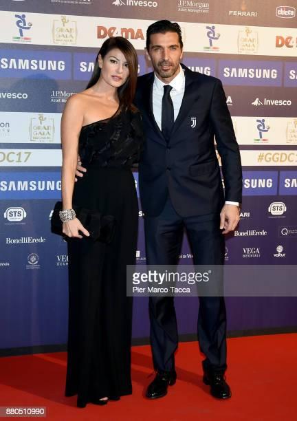 Ilaria D'Amico and Gianluigi Buffon attend the Gran Gala Del Calcio 2017 on November 27 2017 in Milan Italy