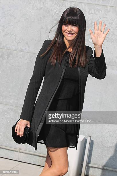 Ilaria D'Amico attends the Emporio Armani show as part of Milan Fashion Week Womenswear Autumn/Winter 2011 on February 26, 2011 in Milan, Italy.