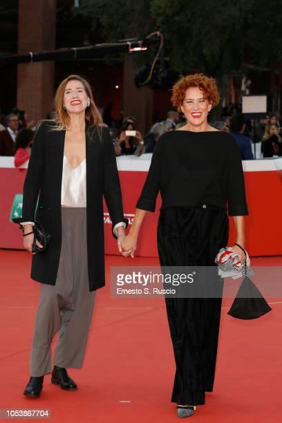Ilaria Genatiempo and Lucrezia Lante della Rovere walk the red carpet ahead of the La Grande Guerra screening during the 13th Rome Film Fest at...