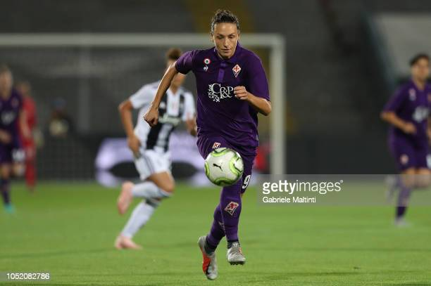 Ilaria Mauro of ACF Fiorentina Women in action during the Italian Supercup match between Juventus Women and Fiorentina Women on October 13 2018 in La...