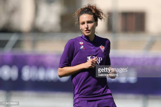 Ilaria Mauro of ACF Fiorentina Women in action during the Women Serie A match between ACF Fiorentina and Florentia at on March 31 2019 in Florence...