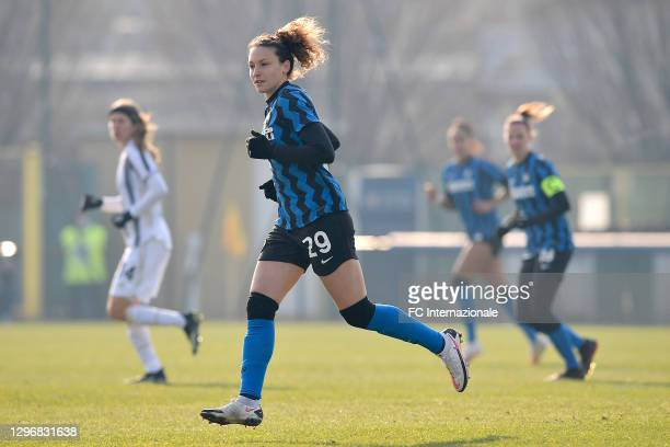 Ilaria Mauro of FC Internazionale looks on during the Women Serie A match between FC Internazionale and Juventus at Suning Youth Development Centre...