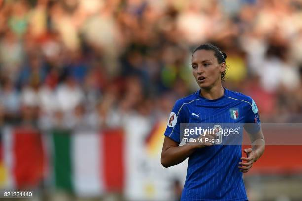 Ilaria Mauro of Italy alooks on during the UEFA Women's Euro 2017 Group B match between Germany and Italy at Koning Willem II Stadium on July 21 2017...