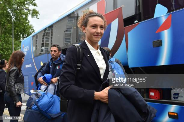 Ilaria Mauro of Italy Women arrives on June 10 2019 in Reims France