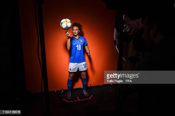 Ilaria Mauro of Italy Women attends the official FIFA Women's World Cup 2019 portrait session at Royal Hainaut Hotel on June 06 2019 in Valenciennes...