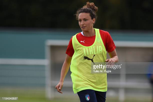 Ilaria Mauro of Italy Women in action during a training session at Stade Cristophe Laurent on June 06 2019 in Valenciennes France