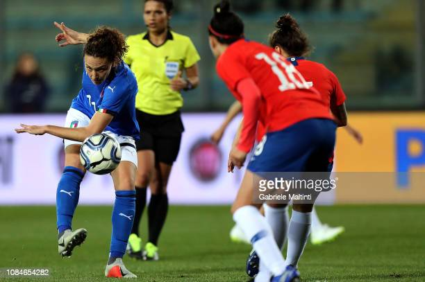 Ilaria Mauro of Italy Women in action during the International Friendly match between Italy Women and Chile Women on January 18 2019 in Empoli Italy