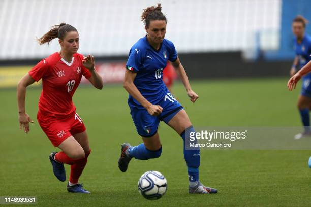 Ilaria Mauro of Italy Women in action during the International Friendly match between Italy Women and Switzerland Women