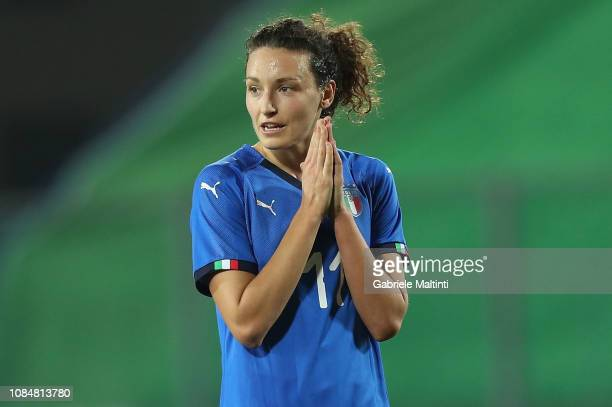 Ilaria Mauro of Italy Women reacts during the International Friendly match between Italy Women and Chile Women on January 18 2019 in Empoli Italy