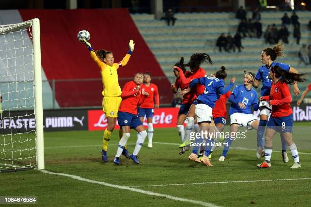 Ilaria Mauro of Italy Women scores a goal during the International Friendly match between Italy Women and Chile Women at Stadio Carlo Castellani on...