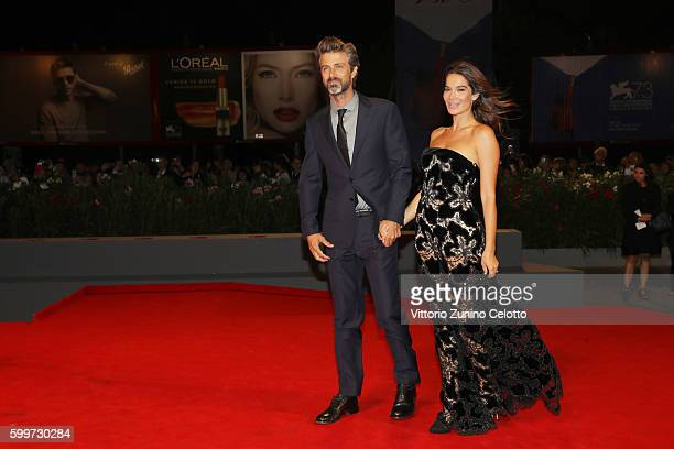 Ilaria Spada and director Kim Rossi Stuart attend the premiere of 'Tommaso' during the 73rd Venice Film Festival at Sala Grande on September 6 2016...