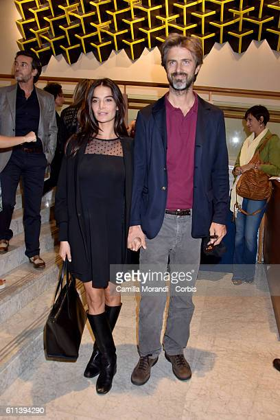 Ilaria Spada and Kin Rossi Stuart attend 'Mothers L'amore che cambia il mondo' screening on September 29 2016 in Rome Italy