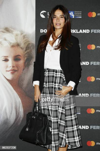 Ilaria Spada attends 'Douglas Kirkland Fermo Immagine' exhibition opening at MAXXI Museum on October 17 2017 in Rome Italy