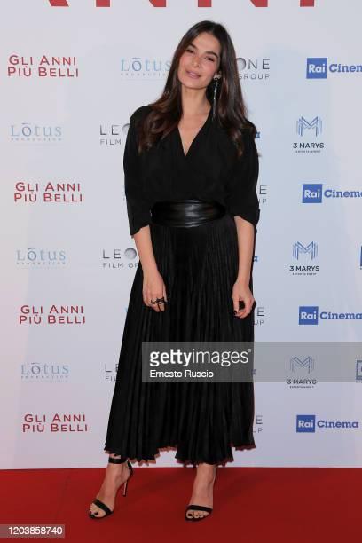 Ilaria Spada attends Gli Anni Più Belli premiere at Auditorium della Conciliazione on February 03 2020 in Rome Italy
