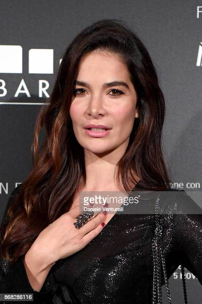 Ilaria Spada attends Telethon Gala during the 12th Rome Film Fest at Villa Miani on October 30 2017 in Rome Italy