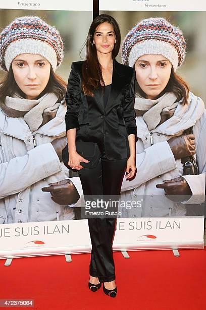 Ilaria Spada attends the 'Je Suis Ilan' premiere at Auditorium Della Conciliazione on May 6 2015 in Rome Italy