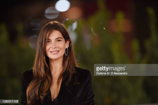 """Ilaria Spada attends the red carpet of the movie """"Cosa Sarà"""" during the 15th Rome Film Festival on October 24, 2020 in Rome, Italy."""