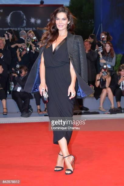 Ilaria Spada walks the red carpet ahead of the 'Three Billboards Outside Ebbing Missouri' screening during the 74th Venice Film Festival at Sala...