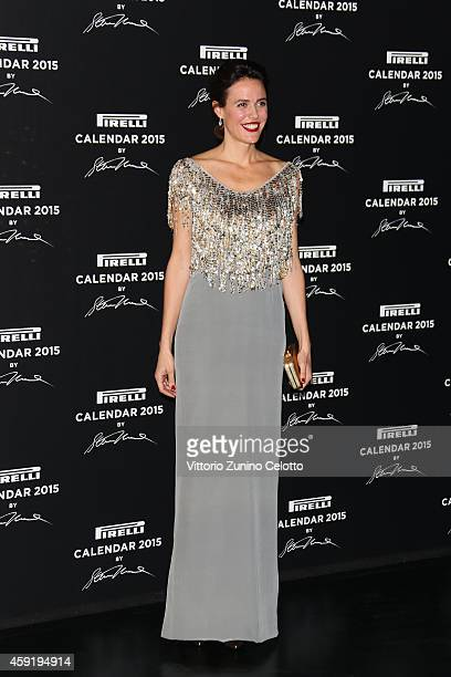 Ilaria Tronchetti attends the 2015 Pirelli Calendar Red Carpet on November 18 2014 in Milan Italy