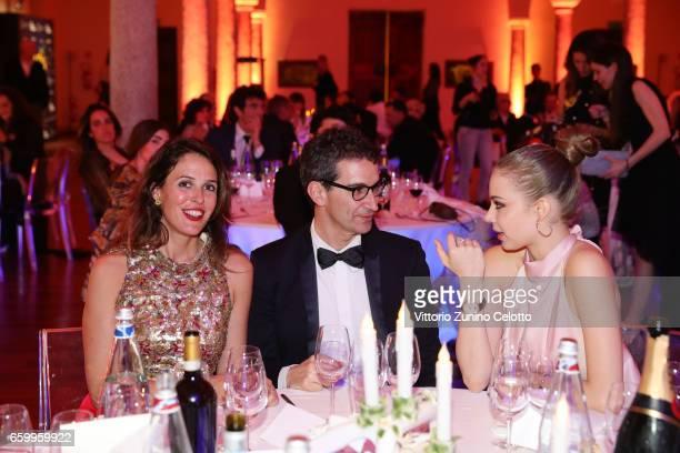 Ilaria Tronchetti Federico Marchetti and Xenia Tchoumitcheva attend Elisa Sednaoui Foundation and Yoox Net a Porter Event on March 28 2017 in Milan...