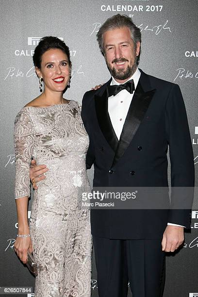 Ilaria Tronchetti Provera and Anselmo Guerrieri Gonzaga attend 'Pirelli Calendar 2017 by Peter Lindberg' photocall at La Cite Du Cinema on November...