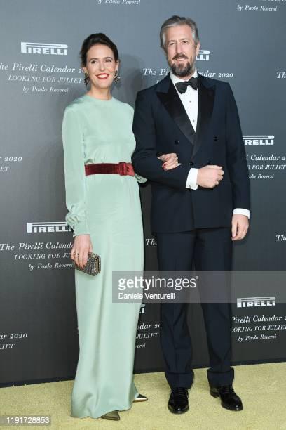 Ilaria Tronchetti Provera and Anselmo Guerrieri Gonzaga attend the presentation of the Pirelli 2020 Calendar Looking For Juliet at Teatro Filarmonico...