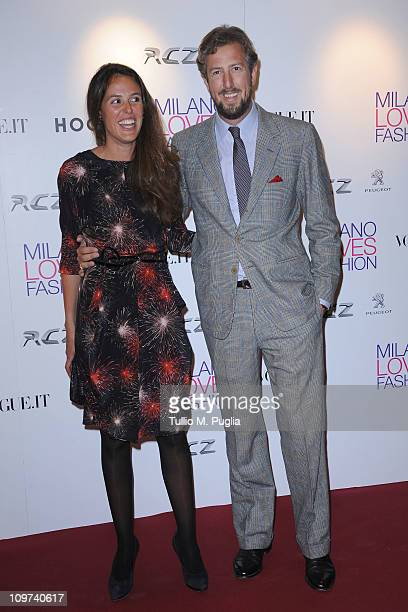 Ilaria Tronchetti Provera and Anselmo Guerrieri Gonzaga attends the Duran Duran dinner and concert at the Teatro dal Verme as part of Milan Fashion...