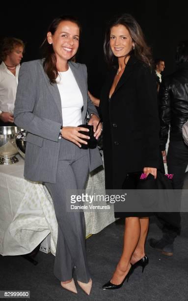 Ilaria Tronchetti Provera and Veronica Berti attends the Roberto Cavalli fashion show at Milan Fashion Week Spring/Summer 2009 on September 24 2008...