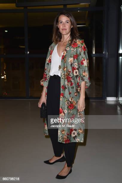 Ilaria Tronchetti Provera attends Andy Warhol Sixty Last Suppers exhibition private view and dinner party hosted by Gagosian Gallery at Museo del 900...