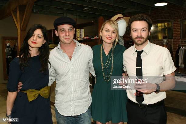 Ilaria Urbinati actor Ethan Embry actress Sunny Mabrey and actor danny Masterson attend the Confederacy Hearts Rag and Bone cocktail party held at...