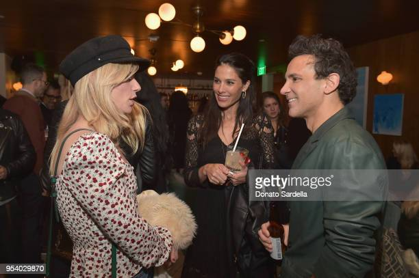 Ilaria Urbinati and George Kotsiopoulos attend EIDOS Celebrates Debut Collection by Simon Spurr on May 2 2018 in West Hollywood California