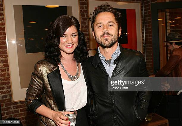 Ilaria Urbinati and Giovanni Ribisi attend the special edition of GQ The Style Manual celebration at Confederacy on November 16 2010 in Los Angeles...