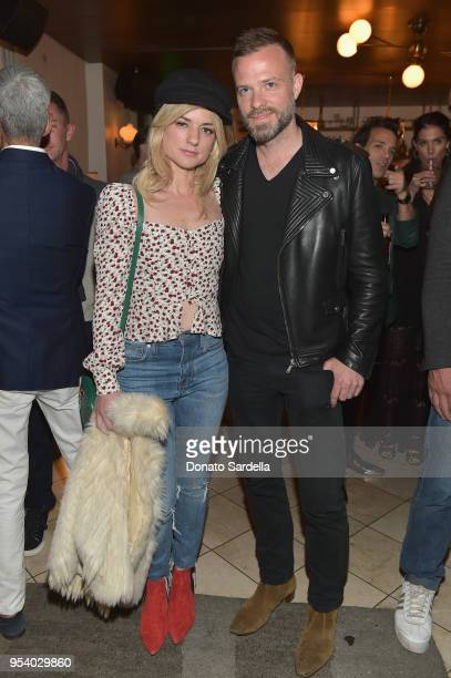 Ilaria Urbinati and Simon Spurr attend EIDOS Celebrates Debut Collection by Simon Spurr on May 2 2018 in West Hollywood California