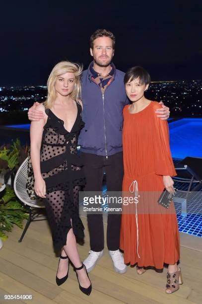 Ilaria Urbinati Armie Hammer and Jimmy Choo Creative Director Sandra Choi attend The Hollywood Reporter and Jimmy Choo Power Stylists Dinner on March...