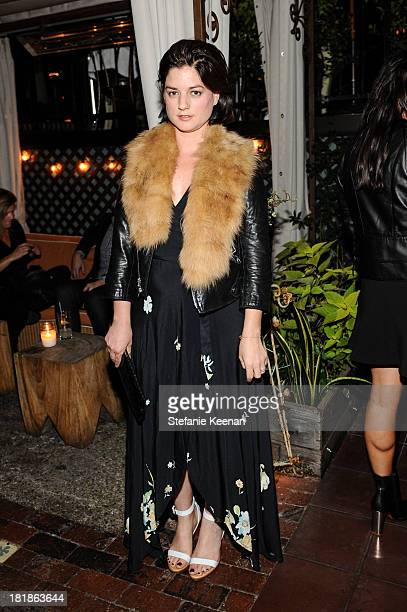 Ilaria Urbinati attends an intimate dinner event hosted by Elle magazine and J Brand at Petit Ermitage Hotel on September 25 2013 in West Hollywood...