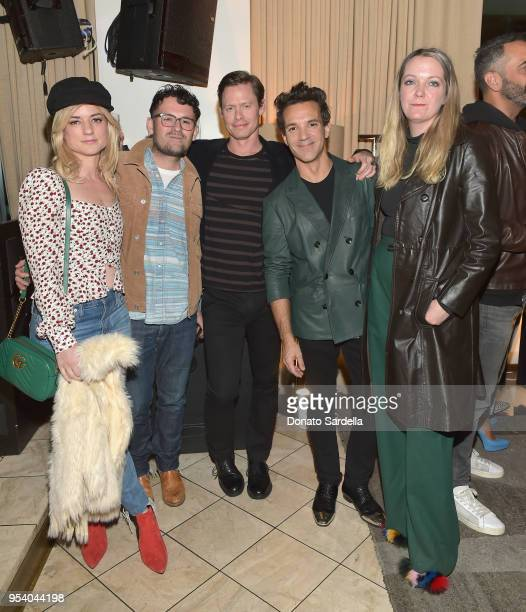 Ilaria Urbinati Mike Bargas guest George Kotsiopoulos and Krissie Torgerson attend EIDOS Celebrates Debut Collection by Simon Spurr on May 2 2018 in...