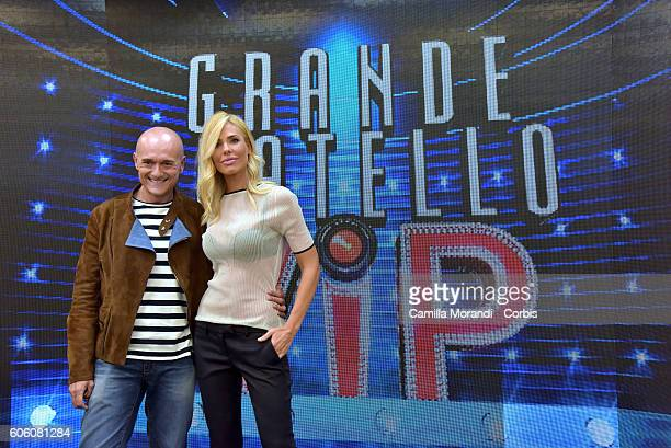 Ilary Blasi and Alfonso Signorini attends the presentation of 'Grande Fratello Vip' on September 16, 2016 in Rome, Italy.