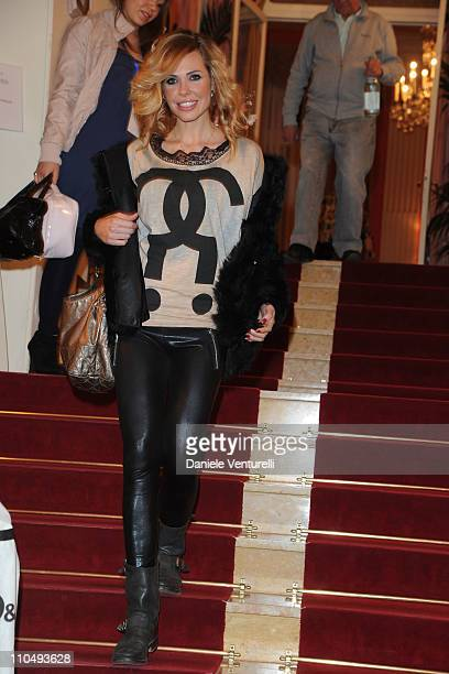 Ilary Blasi attends a photocall for 'Premio TV 2011' at Hotel Londra on March 20 2011 in San Remo Italy