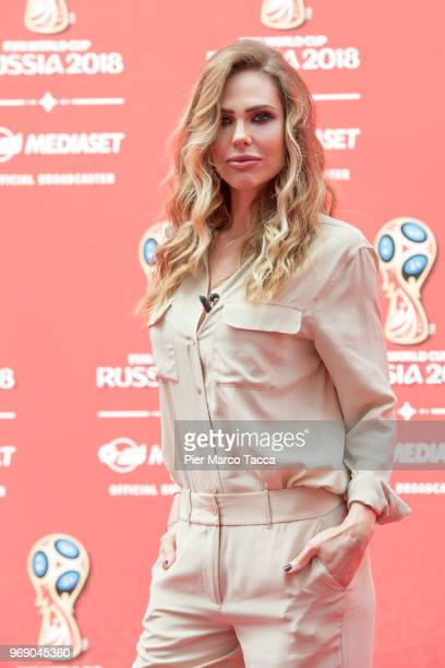 Ilary Blasi attends the Mediaset unveils it's 'World Cup 2018' TV offer press conference on June 7 2018 in Milan Italy