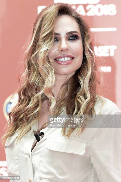 Ilary Blasi attends the Mediaset unveils it's 'World Cup 2018' TV offer press conference on June 7, 2018 in Milan, Italy.