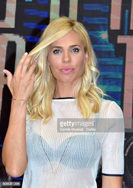 Ilary Blasi attends the presentation of 'Grande Fratello Vip' on September 16, 2016 in Rome, Italy.