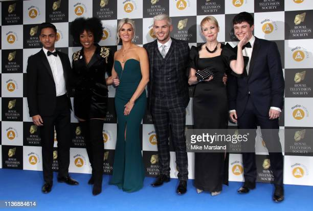 Ilaz Rana, Rachel Adedeji, Sarah-Jayne Duckworth, Kieron Richardson, Lysette Anthony and Aedan Duckworth attend the Royal Television Society...