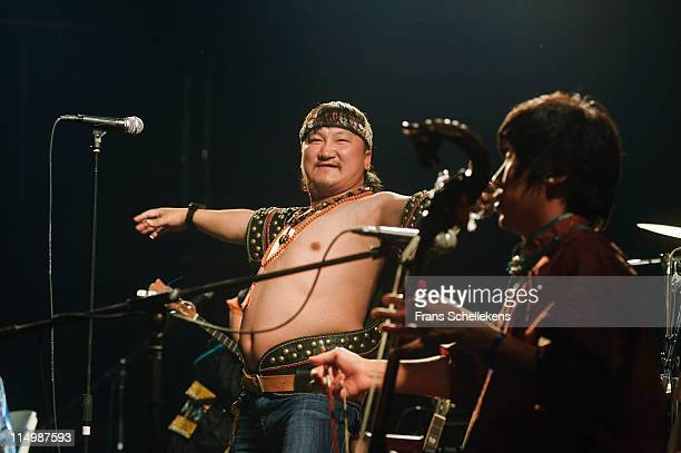 Ilchi and Batubagen of Hanggai perform at New Mao Livehouse on 13th May 2011 in Shanghai, China.