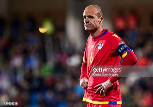 Ildefons Lima of Andorra looks on during the 2020 UEFA European Championships group H qualifying match between Andorra and Iceland at Estadi Nacional...