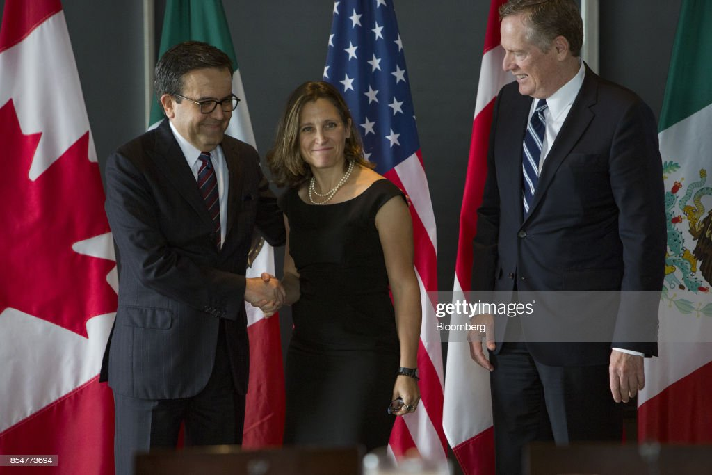 Officials Attend The Third Round Of NAFTA Negotiations