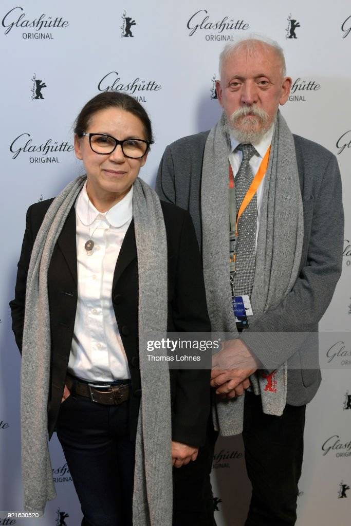 Ildiko Enyedi and Tibor Mathe attend the Glashuette Original Lounge at The 68th Berlinale International Film Festival at Grand Hyatt Hotel on February 20, 2018 in Berlin, Germany.
